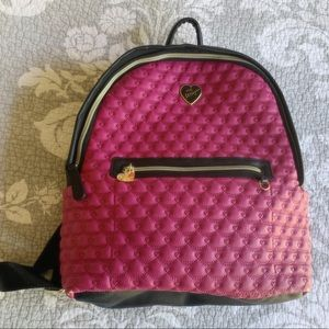 Betsey Johnson Pink and Black Backpack